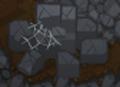 Whackable brick pile