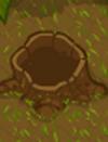 Whackable stump