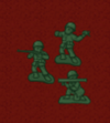 Enemy toy soldiers