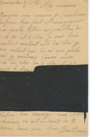 Letter to his parents 1918