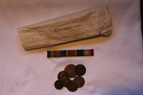 William Cooper Medal Ribbon and Coins
