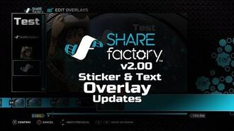 Sticker & Text Overlay Updates in SHAREfactory™ 2.00 (PS4)