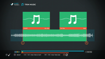 Music Waveform in Trim Music