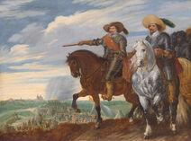 Prins Frederik Hendrik en graaf Ernst Casimir bij het beleg van 's-Hertogenbosch, 1629 (Pauwels van Hillegaert, 1635)