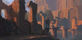 Red ruins by pe travers-d96kwae