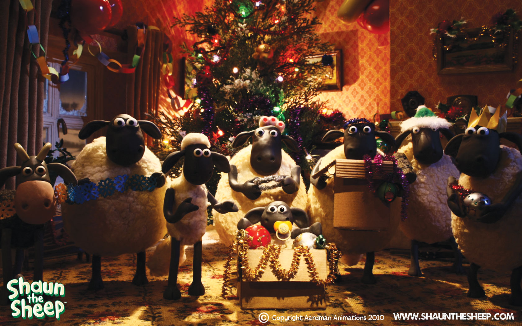 Image - Ewe A Merry X-mas wallpaper XL.jpg | Shaun the Sheep Wiki ...