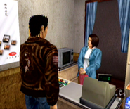 Ryo purchases an item
