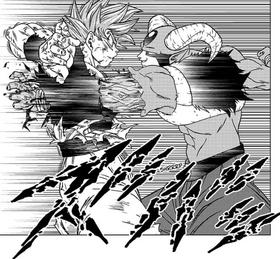 Moro przebija Goku, DBS rozdział 62