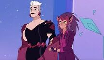 Catra and Scorpia at princess prom