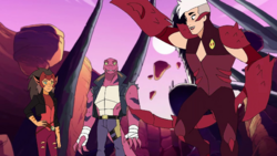 Tung Lashor with Scorpia and Catra Once Upon a Time in the Waste