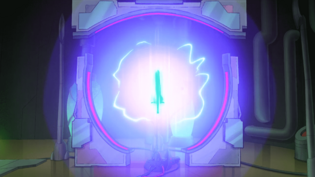 The portal appears to open