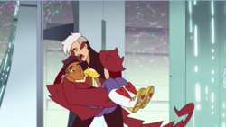 Apologetic Scorpia Cradles Bow
