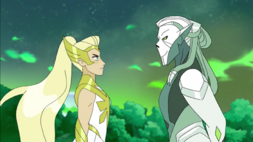 She-Ra and her greatest enemy Horde Prime S5E12
