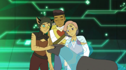 Catra trusts Melog to look after them