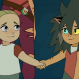 Catra and Adora in a memory