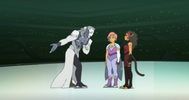 Horde Prime with Glimmer and Catra