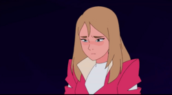 Adora with her hair down