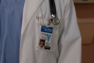 Dr. Chester Roth ID badge