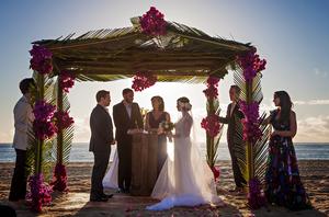 Dan Gregor and Rachel Bloom wedding ceremony