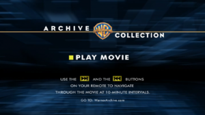 Warner Bros Archives DVD screen