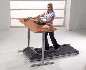 Actual treadmill desk