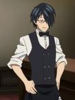 Akane als Kellner