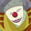 Roter Clown Porträt
