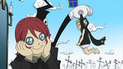 Medusa wird von Shinigami udn Spirit geärgert