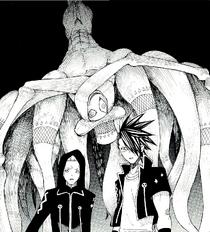 Shirousagi erscheint hinter Akane und Clay