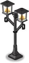 Twin-forked Street Lamp