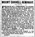 Milwaukee Daily News.1877-08-05.Mount Carroll Seminary.jpg