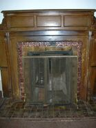 Waukegan 438 interior smoking lounge fireplace