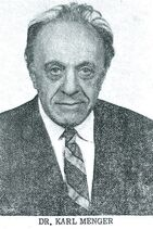 Karl Menger 1970