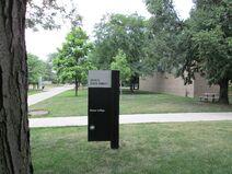 Shimer College signage 3424 S State St Chicago rear entrance