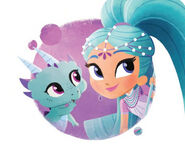 Shimmer and Shine Princess Samira with Nazboo Illustrated