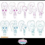Shimmer and Shine Turnarounds 2013