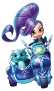 Nazboo and Zeta the Sorceress Shimmer and Shine Motorcycle