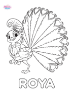 Roya the Peacock Shimmer and Shine Coloring Page