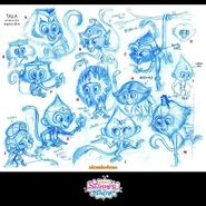 Tala Production Sketches Shimmer and Shine