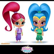 Shimmer and Shine Rough Character Designs 2013