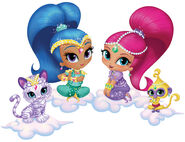 Shimmer, Shine, Tala and Nahal