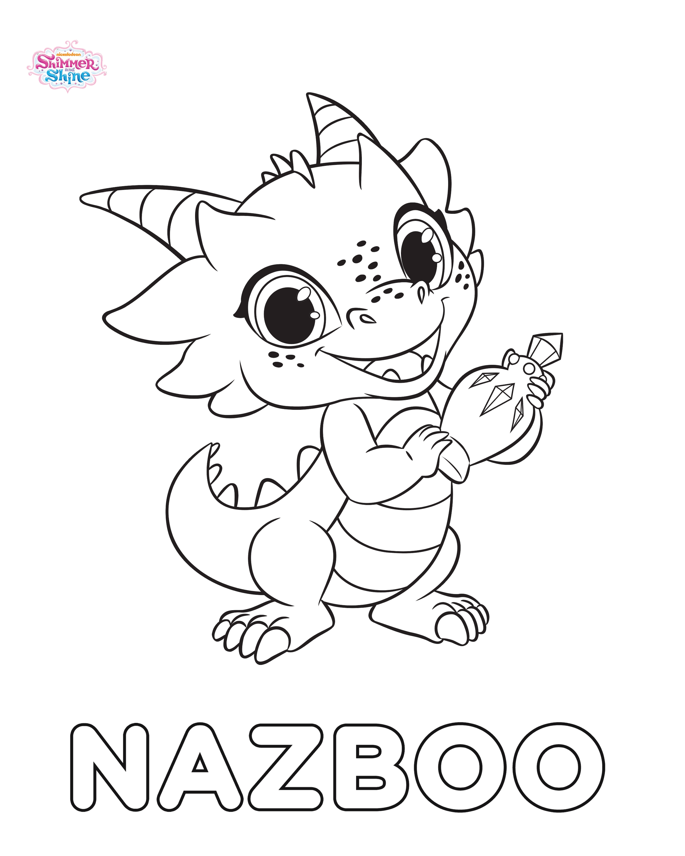 Nazboo Shimmer And Shine Coloring Page