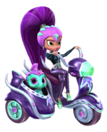 Zeta the Sorceress and Nazboo Sprite from Shimmer and Shine Haunted House Game