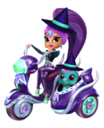 Zeta the Sorceress and Nazboo Sprite from Shimmer and Shine Halloween Game