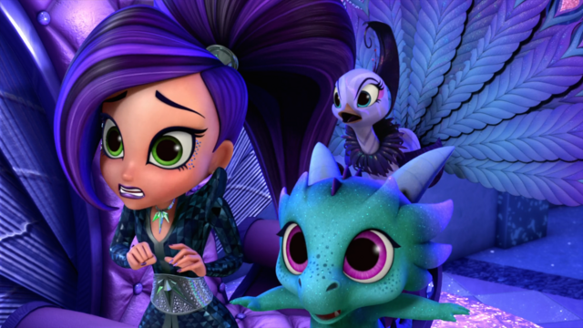 File:Shimmer and Shine Roya the Peacock with Zeta and Nazboo.png