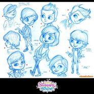 Zac Production Sketches Shimmer and Shine