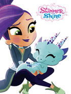 Shimmer and Shine Zeta the Sorceress and Nazboo 2D Cutouts