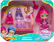 Shimmer dress up doll