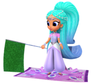Princess Samira Sprite from Shimmer and Shine Carpet Racing Game