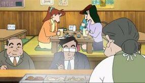 Maxusaca,yoshinaga y ageo en el restaurante